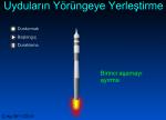 Uydunun Yörüngesine Yerleştirilmesi