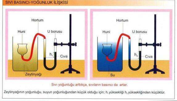 Sıvı Basıncı yoğunluk ilişkisi