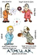 Atom konusunda çalışma yapan bilim insanları
