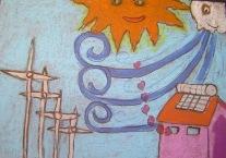 """Çocuklar kendi """"Güneş Ülkelerini"""" resmettiler"""