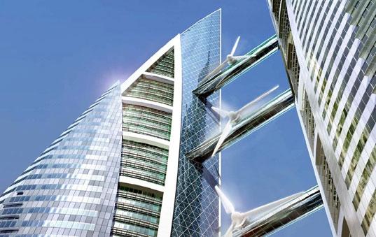 Bahreyn Dünya Ticaret Merkezi`nin Devasa Rüzgar Türbinleri