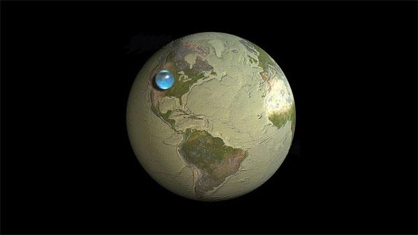 Dünyadaki suyun boyutu