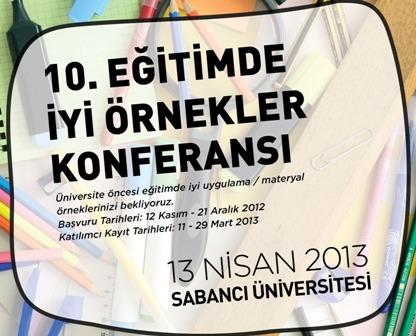 Eğitimde İyi Örnekler Konferansı 2013 başlıyor!