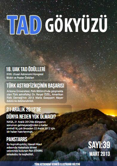 Türk Astronomi Derneği`nin elektronik bülteni