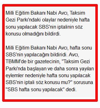SBS iptal mi? Bakan açıkladı