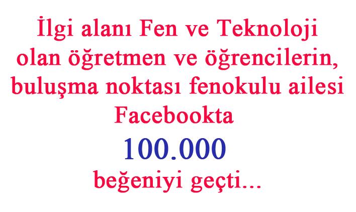 Facebookta 100.000 Fene ilgili öğrenci ve öğretmen...
