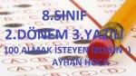 8.SINIF 2.D�NEM 3.YAZILI %99 �IKAB�L�R 1