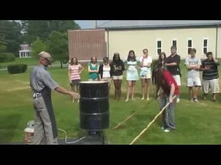 Hava basıncı ile çelik bidon parçalama