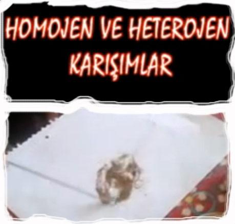 Homojen ve Heterojen Karışımlar