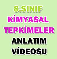 8.SINIF KİMYASAL TEPKİMELER 2
