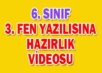 6.SINIF  1.D�NEM 3.YAZILI �ALI�MASI-1