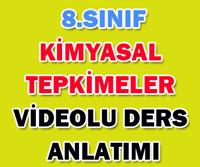 8.SINIF KİMYASAL TEPKİMELER 4