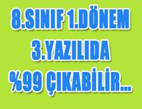 8.SINIF DİKKAT 1.DÖNEM 3.YAZILIDA %99 ÇIKABİLİR!!! - 4