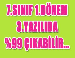 7.SINIF DİKKAT 1.DÖNEM 3.YAZILIDA %99 ÇIKABİLİR!!! - 4